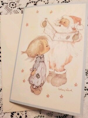 Vintage Hallmark Betsey Clark Christmas Greeting Card-unused  Santa Claus Angel