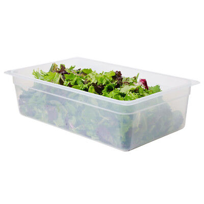 Cambro Set Of Full Size Food Pan With Seal Covers, Translucent 4Ea/set