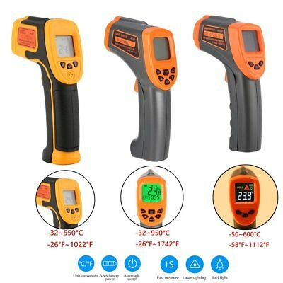 LCD Digital Temperature Gun Non-contact Infrared IR Laser Thermometer Temp Me RC