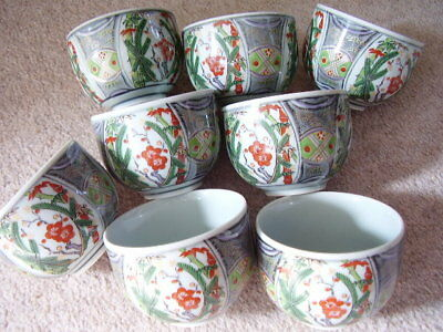 Antique Japanese-Chinese CUP,set of 8 pieces ,signed