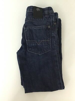 Hugo Boss Boys Dark Blue Denim Regular Fit Straight Leg Jeans Pants Age 6 Years