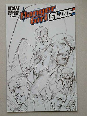 Danger Girl / G.i.joe #1 - J Scott Campbell Sketch Variant