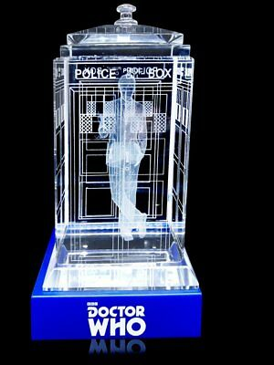 Doctor Who TARDIS Tenth David Tennant Crystal Collectible BBC Licensed