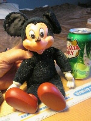 old Mickey Mouse doll.  stuffed with crunchy beads.  made by APPLAUSE. item 3405