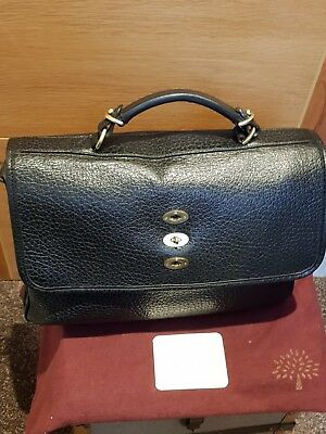 1bc97382d8 MULBERRY BRYN SHINY GRAIN BLACK BAG - Excellent Condition (pre-owned)