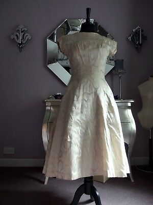 Original vintage 1950s  wedding dress
