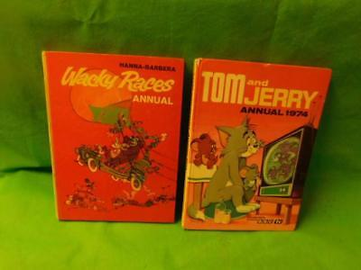 Tom and Jerry Vintage Annual 1974 Wacky Races 1974 UNCLIPPED
