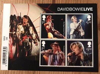2017 DAVID BOWIE LIVE Mini Sheet Mint - WITH BARCODE MARGIN MS3939