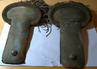 ANTIQUE 19th CENTURY FRENCH NAPOLEON III ERA EPAULETTES A PAIR SHOULDER BOARDS