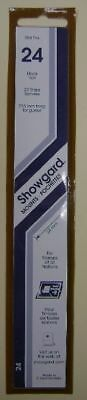 Showgard size 24 black hingeless stamp mount NEW unopened pack 1st quality 215mm