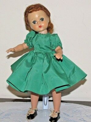 Vintage Exc. 1950's Madame Alexander Lissy Doll Red Hair in Green Tagged Dress