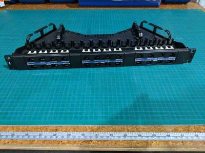 24 Port Cat6 Patch Panel with cable minder and tension tray