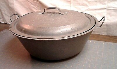 Antique Primitive Large Bowl with Vented Lid for Rising Bread Dough