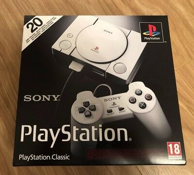 Sony Playstation One Classic Console Brand New & Sealed 2 Pads 20 Games-In hand