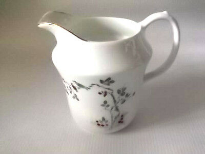 1912 - 1941 Shaped Milk Jug By Sutherland China   Birds In A Flowering Tree