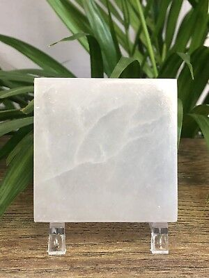 Selenite Plate Crystal Charger Cleanser Coaster Gemstone Tile Reiki Chakra Heal.