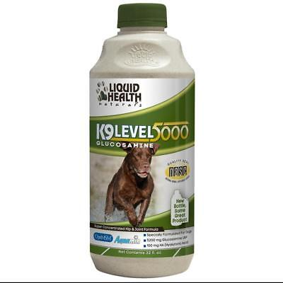 Liquid Health K9 Level 5000 GLUCOSAMINE for all dogs - fast free & easy shipping