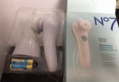 Boots No7 Radiant Results Revitalising Sonic Action Cleansing Brush  NEW / BOXED