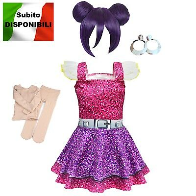 Simile Lol Purple Queen Vestito Carnevale Bambina Lol Dress Cosplay LOLPUQ1 B