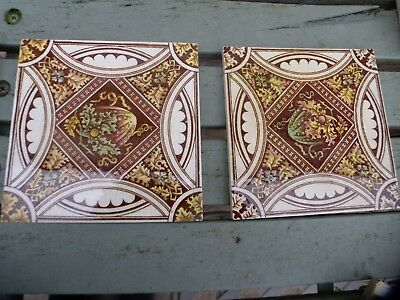 A pair of Victorian tiles for sale.