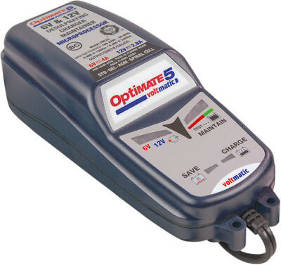 TecMate OptiMate 5 VoltMatic 8 step 6V 4A/12V 2.8A Battery Charger TM223