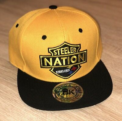 PITTSBURGH STEELERS NATION Embroidered Patch Hat Cap NFL Football BK Brand