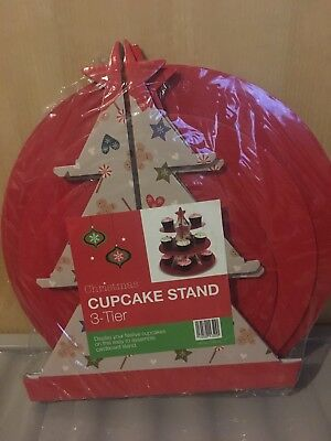Christmas Cupcake Stand 3 Tier - Tree Shaped
