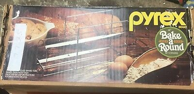 Vintage Pyrex 990 Bake Around Corning Glass Bread Tube & Rack