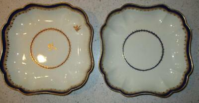 Pair Late 18Th Century Derby Square Shape Dessert Dishes