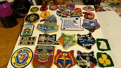 Lot Of 28 Webelos And Cub Scout Patches,2 Home Made (Lot H)