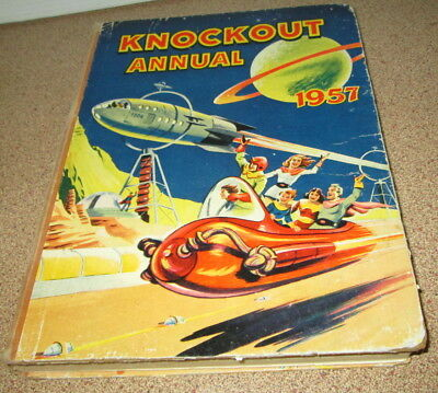 Knockout Annual 1957 Jpohnnie Wingco The Red Rider Billy Bunter Puzzles Etc