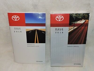 2016 Toyota Rav 4 Owners Manual And Warranty Maintenance Guide