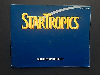 Nintendo NES - STAR TROPICS Instructions Manual WITH UNCLE STEVE LETTER ATTACHED