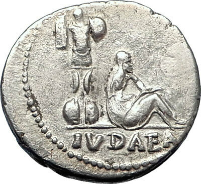 VESPASIAN 69AD Genuine Ancient ROMAN Jewish War Victory JUDAEA CAPTA COIN i74001