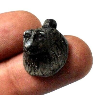 Rare Ancient Egypt Egyptian Antique head of SEKHMET Amulet (1000–600 BC
