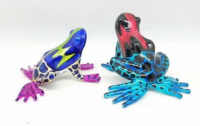 Frog Glass Hand Blown Amphibian Figurine Miniature Animals Art Decor Handmade