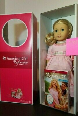 "NEW Caroline Beforever American Girl Doll, Book 18"" - Dent and Ding, Clean Box."