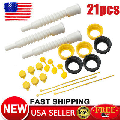 21Pcs For EZ POUR Gas Can Spout Replacement Fuel Nozzle Vent Kit Fit Plastic Can