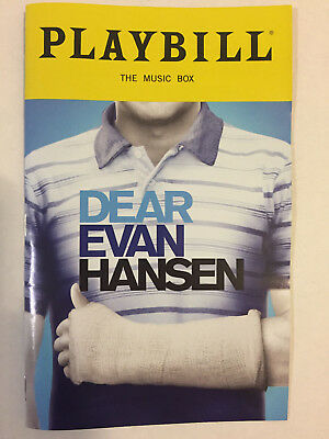 Dear Evan Hansen Playbill Book New York City Nyc Broadway October 2018
