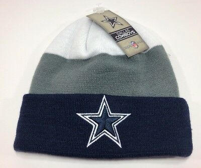 Dallas Cowboys Authentics Nfl Sport Knit Cuff Beanie Skull Cap Hat One Size  Nwt 20fea415d