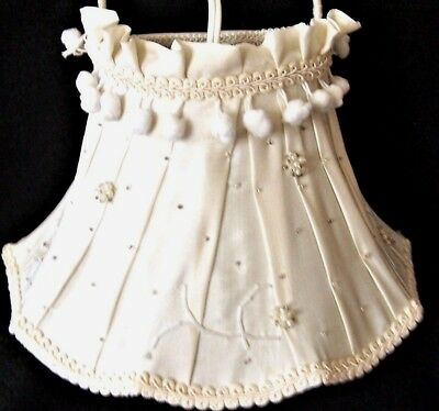 Vintage Headboard Lamp Bed Reading with white fabric shade