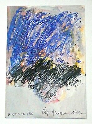 Cy Twombly - A 1998 Signed Expressionist Abstract Gouache Painting, Rome, # 3