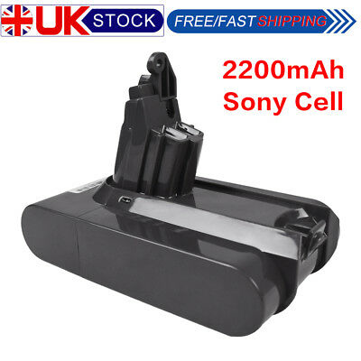 for Dyson V6 21.6V 2200mAh Li-ion Battery for Dyson DC58, DC59,DC62 Sony Cell
