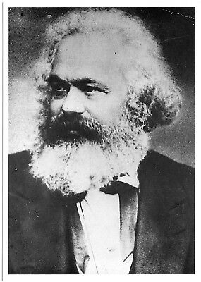 KARL MARX in the 1870s - B&W photo post card (New, out of print) - rare