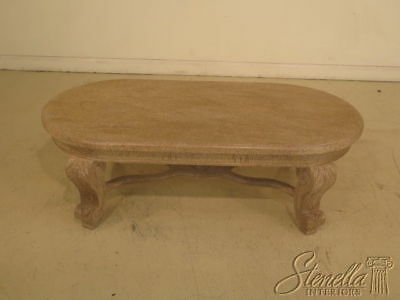 F39289: Large Oblong Paint Decorated Designer Coffee Table