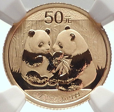 2009 CHINA Gold 50 Yuan Chinese Coin PANDA & TEMPLE of HEAVEN NGC MS 69 i74007