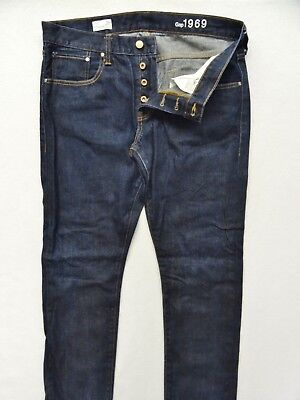 b91098cf39120c GAP~MINT!!~DARK EVEN WASH Button Fly Original Fit Jeans-100% Cotton ...