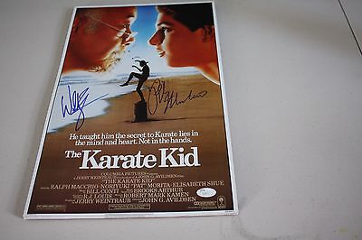 The Karate Kid 11X17 Movie Poster Signed By Billy Zabka & Ralph Macchio Jsa Cert