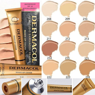 14 Colors Waterproof Cream Concealer Dermacol Moisturizing Make-up Foundation