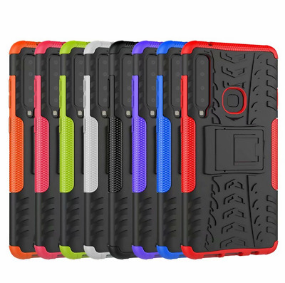 for Samsung Galaxy A9 (2018) Case, Shockproof Armor Hybrid Kickstand Hard Cover